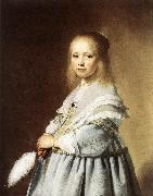 VERSPRONCK, Jan Cornelisz Girl in a Blue Dress wer oil painting artist